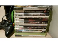 Xbox 360 with 10 games and 250Gb hd