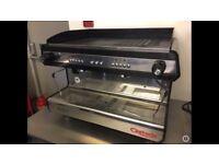 Barista Espresso Coffee Twin Machine, Black with Chrome
