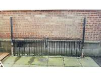 Steel gates with posts