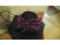 Hat in purple for wedding/event