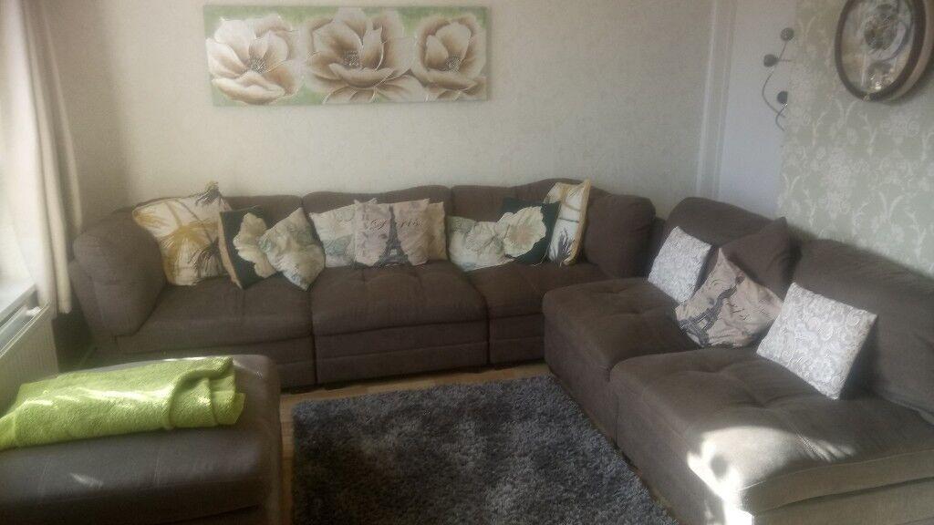 Costco Modular Corner Sofa 3 Seater 2 Foot Stool