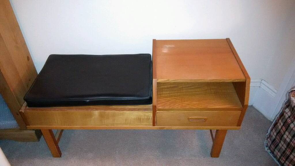 Retro telephone table and seatin Hove, East SussexGumtree - Retro telephone table and seat.Please see photo for mark where the varnish has come off.£45 ono