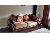 3 and 2 seater leather sofas in excellent condition