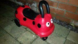 *** ELC ladybird ride on toddler/ baby quad bike