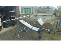 Domyos BM450 weights bench and 140kgs cast iron weights
