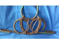 RARE Antique Wrought Iron Horseshoe Handmade Bracket Garden House Clearance