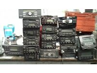 Car Radios CD players - Approx 80 Various Makes/Models Bulk Buy Job Lot. Sony Ford Etc