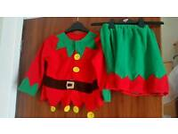Girls elf fancy dress ages 8-10