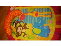 Bright Starts Safari Tummy Time Mat