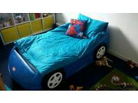 Little tikes car bed and foam mattresses
