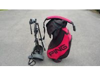 Ping Golf Bag and Trolley