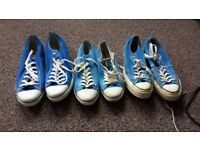 Blue Low Converse Sizes 4, 9 and 12