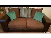 DFS leather/fabric 2 and 3 seaters sofas