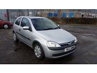 2001 Vauxhall Corsa 1.0 i 12v Comfort 3dr Hatchback £495 Mot'd til 11/07/17 & 3 MONTH WARRANTY