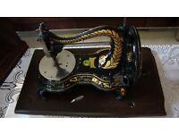 Beautiful Antique Jones Serpentine Sewing Machine.