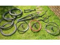 Job Lot BMX Parts FRAME FORKS BARS CRANKS WHEELS PEDALS