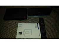 BT Home Hub 5 and BT Youview box with remote and power and manuals