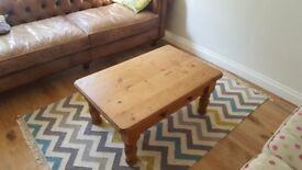 Lovely coffee table- solid pine with drawer