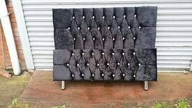 4 FT 6 DOUBLE ROXY GLITZ CRUSH VELVET DIAMANTE BED HAND MADE STUNNING QUALITY & AMAZING PRICE £199