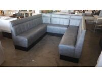 fixed seating, benches, sofas, restaurant and barber furniture