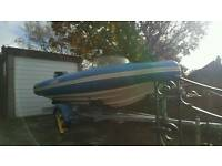 Flatacraft force 4mtr rib rigid inflatable boat with indespension trailer.