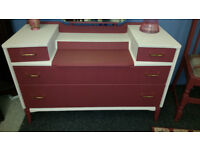 Vintage Style Dressing Table with Adjustable Mirror