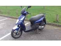 SYM 125 cc Scooter 2 years old Low mileage Full Service History Lovely Bike Still under warranty