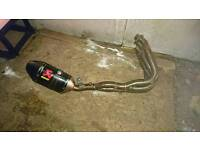 Suzuki gsxr 600/750 k6/k7 full ackrapovic exhaust system for sale