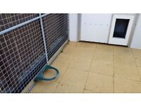 Extra large galvanised dog pen and kennel