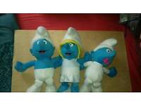 3 official smurfs teddies (plush)