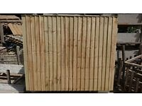 Pressure Treated Timber Panels 6x6 Vertilap £22.---- 6x5 £20----6x4 £18----6x3 £16. Each