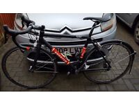 Racing bike with carbon forks and ultegra group set