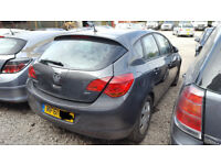ASTRA MK 6 / J REAR BUMPER IN GREY 2012 BREAKING