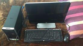 HP Desktop + monitor, m&kb