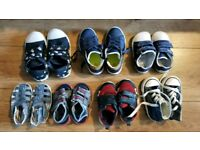 Baby boy shoes (sizes 4-7) Converse, Clarks