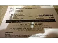 4 standing James Arthur tickets for concert 30th November