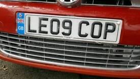 Personalised registration number plate