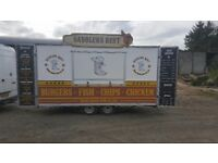 14x7 foot catering trailer excellent condition