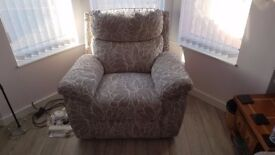Lofa Static Chair in Maribor pattern silver, Brand new - perfect condition (cost £1,099.00)