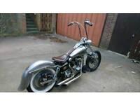 Harley davidson shovelhead bobber chopper custom