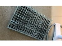 Small silver 2 door puppy / small dog cage