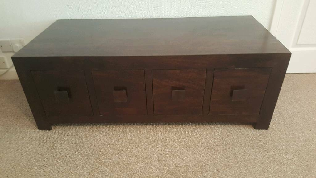 Solid wood 8 drawer coffee table used