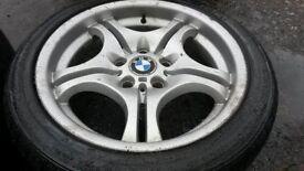 "17"" GENUINE BMW MOTORSPORT STYLE 68 ALLOY WHEELS / TYRES"