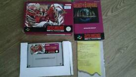 SECRET OF EVERMORE RARE SNES CARTRIDGE BOXED WITH MANUAL
