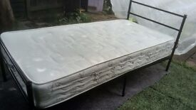 Single Bed (Black Frame) with Mattress