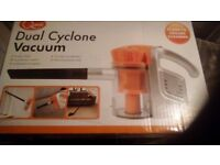 Dual cyclone vacuum cleaner. Never used, still in box