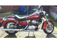 honda shadow 125 with under 7,000 miles.