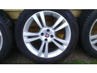 Fiat Genuine 225/17 alloy wheels with sesonal tires