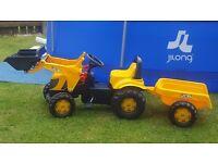 Kids JCB Tractor trailer