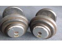 Selection of used weights 20Kg, 26Kg, 28Kg, 32.5Kg